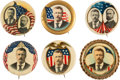 Political:Pinback Buttons (1896-present), Theodore Roosevelt: Collection Of Six Buttons....