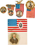 Political:Ribbons & Badges, Theodore Roosevelt: Buttons and Postcards....