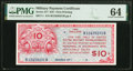 Military Payment Certificates:Series 471, Series 471 $10 First Printing PMG Choice Uncirculated 64.. ...