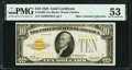 Small Size:Gold Certificates, Fr. 2400 $10 1928 Gold Certificate. PMG About Uncirculated 53.. ...