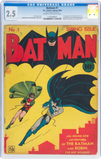 Batman #1 (DC, 1940) CGC GD+ 2.5 Cream to off-white pages