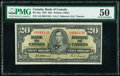 World Currency, Canada Bank of Canada $20 2.1.1937 BC-25a PMG About Uncirculated 50.. ...
