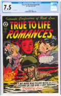 Golden Age (1938-1955):Romance, True-To-Life Romances #13 (Star Publications, 1952) CGC VF- 7.5 Off-white to white pages....