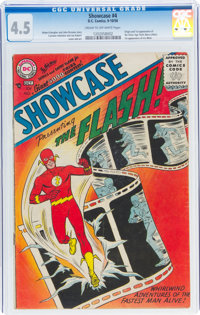 Showcase #4 The Flash (DC, 1956) CGC VG+ 4.5 Cream to off-white pages