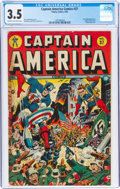 Golden Age (1938-1955):Superhero, Captain America Comics #37 (Timely, 1944) CGC VG- 3.5 Cream to off-white pages....