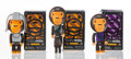 Collectible, BAPE X Kubrick. Baby Milo (four works), 2003. Painted cast resin. 3-3/4 x 2 x 1-3/4 inches (9.5 x 5.1 x 4.4 cm) (largest... (Total: 3 Items)