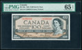 """World Currency, Canada Bank of Canada $100 1954 BC-35a """"Devil's Face"""" PMG Gem Uncirculated 65 EPQ.. ..."""