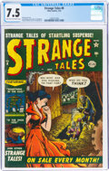 Golden Age (1938-1955):Horror, Strange Tales #8 (Atlas, 1952) CGC VF- 7.5 Light tan to off-white pages....