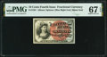 Fractional Currency:Fourth Issue, Fr. 1261 10¢ Fourth Issue PMG Superb Gem Unc 67 EPQ.. ...