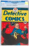 Golden Age (1938-1955):Superhero, Detective Comics #20 (DC, 1938) CGC VG- 3.5 Cream to off-white pages....