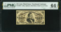 Fractional Currency:Third Issue, Fr. 1292 25¢ Third Issue PMG Choice Uncirculated 64 EPQ.. ...
