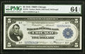 Fr. 794 $5 1918 Federal Reserve Bank Note PMG Choice Uncirculated 64 EPQ