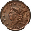 1833 1C N-5, R.1, MS66 Brown NGC....(PCGS# 37030)