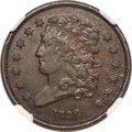 Proof Half Cents, 1836 1/2 C Reverse of 1836 -- Environmental Damage -- NGC Details. Proof, XF. B-1 First Restrike, High R.6....
