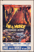 "Movie Posters:Foreign, Catastrophe 1999: Prophecies of Nostradamus (Cosmopolis Films, 1974). Folded, Fine. Belgian (14.25"" X 21.75""). Foreign.. ..."