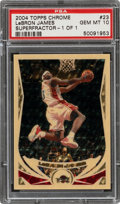 Basketball Cards:Singles (1980-Now), 2004 Topps Chrome LeBron James (Superfractor) #23 PSA Gem Mint 10 - #'d 1 of 1....