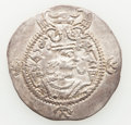 Ancients:Oriental, Ancients: TOKHARISTAN. Yabghus of Bactria. Ca. AD 6th-7th century. AR drachm (31mm, 3.84 gm, 3h). Choice VF....