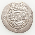 Ancients:Oriental, Ancients: TOKHARISTAN. Yabghus of Bactria. Ca. AD 6th-7th century. AR drachm (30mm, 3.80 gm, 4h). Choice VF. ...