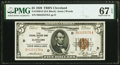 Fr. 1850-D $5 1929 Federal Reserve Bank Note. PMG Superb Gem Unc 67 EPQ