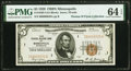 Low Serial Number 20 Fr. 1850-I $5 1929 Federal Reserve Bank Note. PMG Choice Uncirculated 64 EPQ