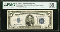 Small Size:Silver Certificates, Fr. 1653* $5 1934C Mule Micro Back Plate Number 637 Silver Certificate. PMG Choice Very Fine 35.. ...