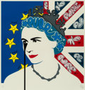 Prints & Multiples, Pure Evil (b. 1968). Brexit Queen, early 21st century. Screenprint in colors with hand-finished ink embellishments on Fe...