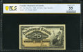 Canada Dominion of Canada 25 Cents 2.1.1900 DC-15c PCGS Banknote About Unc 55