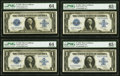 Large Size:Silver Certificates, Fr. 239 $1 1923 Silver Certificates Cut Sheet of Four. . ... (Total: 4 notes)