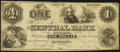 Obsoletes By State:Alabama, Montgomery, AL- Central Bank of Alabama $1 Oct. 1, 1861 Fine.. ...