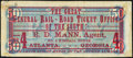 Confederate Notes:1864 Issues, General Rail Road Ticket Office of the South - R.D. Mann, Agent - Atlanta, GA Advertising Note T66 $50 1864 Very Fine.. ...