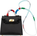 """Luxury Accessories:Accessories, Hermès 6.5cm Black Niloticus Lizard Kelly Bag Accessory with Gold Hardware. Y, 2020. Condition: 1. 2.5"""" Width x 3""""..."""
