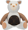 """Luxury Accessories:Home, Louis Vuitton Leather & Monogram Coated Canvas Teddy Bear . Condition: 1. 7"""" Width x 10"""" Height x 3"""" Depth. ..."""