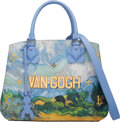 "Luxury Accessories:Bags, Louis Vuitton x Jeff Koons Limited Edition Periwinkle Leather & Coated Canvas ""Van Gogh"" Montaigne MM Bag. Condition: 3..."