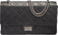 Luxury Accessories:Bags, Chanel Gray Quilted Distressed Lambskin Leather 2.55 Reissue - 227 Double Flap Bag with Ruthenium Hardware. Condition: 3...