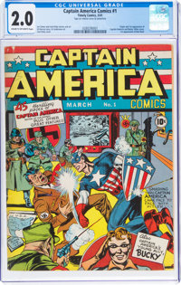 Captain America Comics #1 (Timely, 1941) CGC GD 2.0 Cream to off-white pages