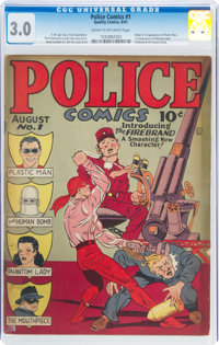 Police Comics #1 (Quality, 1941) CGC GD/VG 3.0 Cream to off-white pages