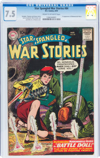 Star Spangled War Stories #84 (DC, 1959) CGC VF- 7.5 Cream to off-white pages