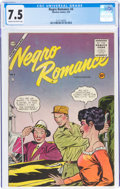 Golden Age (1938-1955):Romance, Negro Romances #4 (Charlton, 1955) CGC VF- 7.5 Cream to off-white pages....