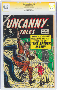 Uncanny Tales #26 Signature Series - Stan Lee (Atlas, 1954) CGC VG+ 4.5 Cream to off-white pages