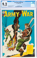 Golden Age (1938-1955):War, Our Army at War #26 (DC, 1954) CGC NM- 9.2 Off-white to white pages....