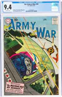 Our Army at War #59 (DC, 1957) CGC NM 9.4 Off-white pages
