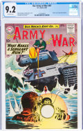 Silver Age (1956-1969):War, Our Army at War #97 (DC, 1960) CGC NM- 9.2 Off-white pages....