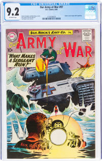 Our Army at War #97 (DC, 1960) CGC NM- 9.2 Off-white pages