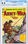 Golden Age (1938-1955):War, Our Army at War #22 (DC, 1954) CGC NM- 9.2 Off-white to white pages....
