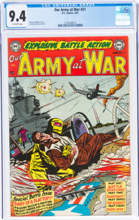 Our Army at War #21 (DC, 1954) CGC NM 9.4 Off-white pages