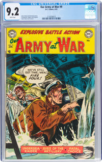 Our Army at War #9 (DC, 1953) CGC NM- 9.2 White pages