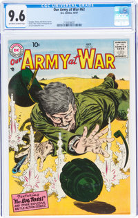 Our Army at War #63 (DC, 1957) CGC NM+ 9.6 Off-white to white pages