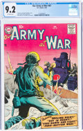 Silver Age (1956-1969):War, Our Army at War #67 (DC, 1958) CGC NM- 9.2 Off-white pages....