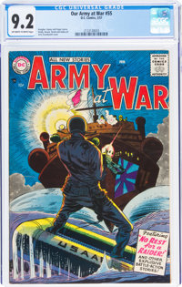 Our Army at War #55 (DC, 1957) CGC NM- 9.2 Off-white to white pages