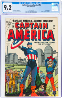 Captain America Comics #76 (Timely, 1954) CGC NM- 9.2 White pages